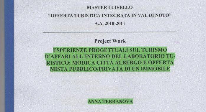 Project work - Modica Città Albergo