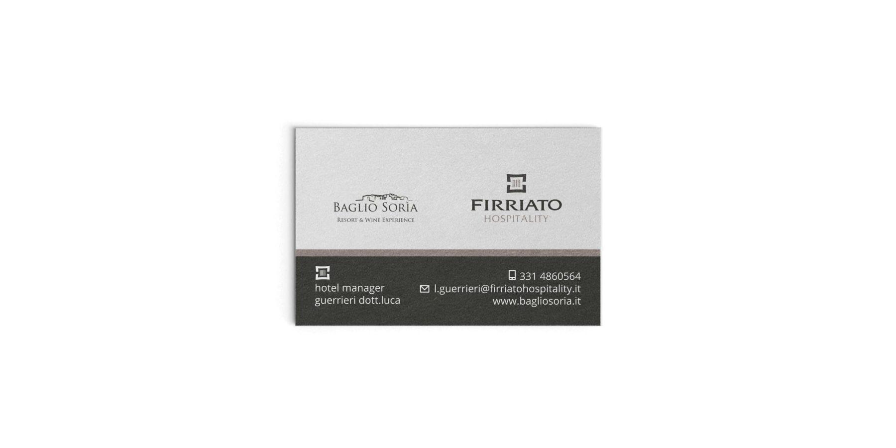 2015 - Direttore d'Albergo Baglio Soria, FIRRIATO Hospitality