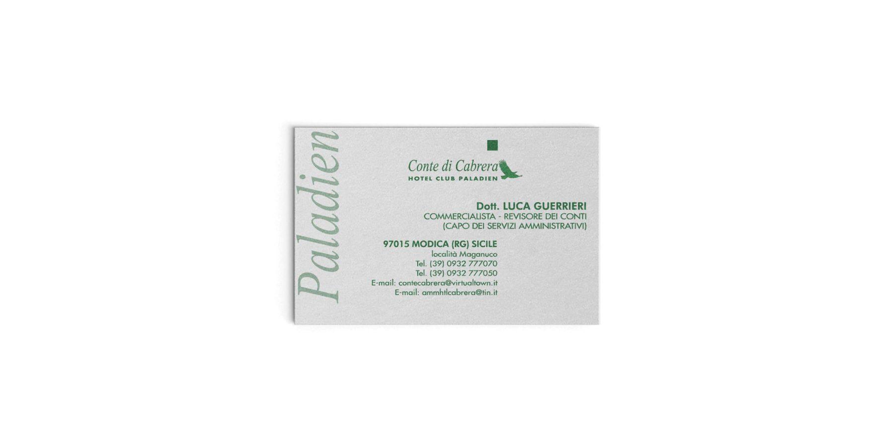 1999/2006 - Direttore d'Amministrazione Conte di Cabrera Hotel Club Paladien